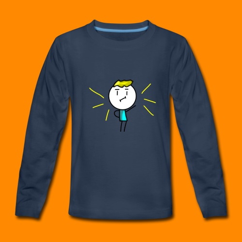V-neck and more (Amazing Man) - Kids' Premium Long Sleeve T-Shirt