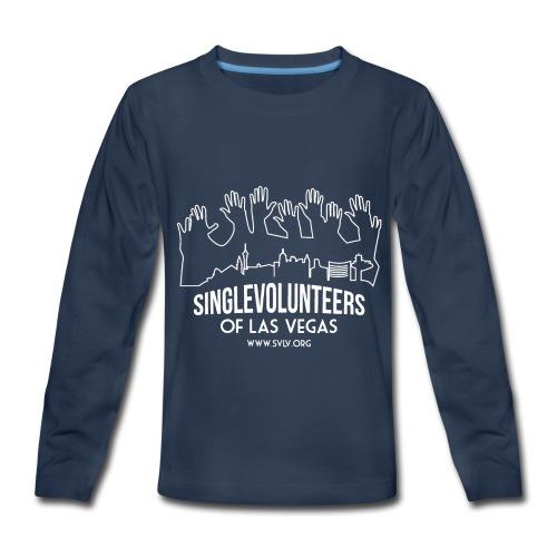 White logo SVLV - Kids' Premium Long Sleeve T-Shirt