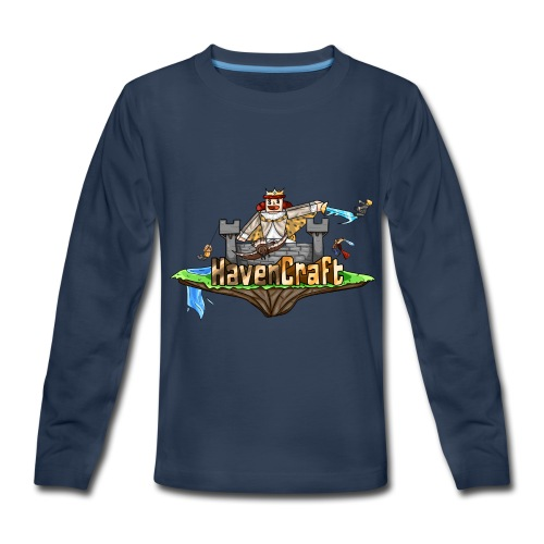HavenCraft Full Logo - Kids' Premium Long Sleeve T-Shirt