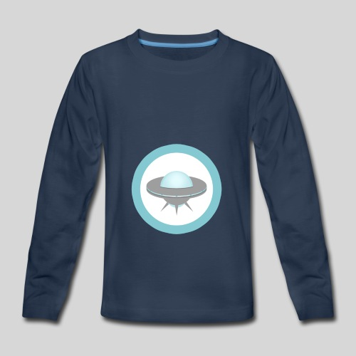 ALIENS WITH WIGS - Small UFO - Kids' Premium Long Sleeve T-Shirt