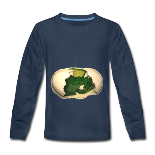 The Emerald Dragon of Nital - Kids' Premium Long Sleeve T-Shirt