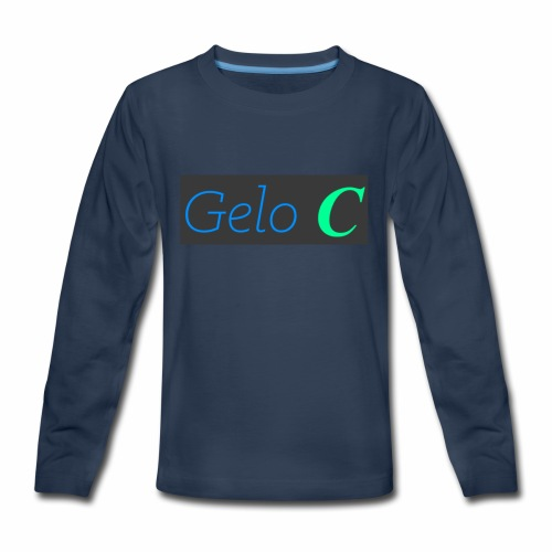 GeloC Rectangle Gray Logo - Kids' Premium Long Sleeve T-Shirt