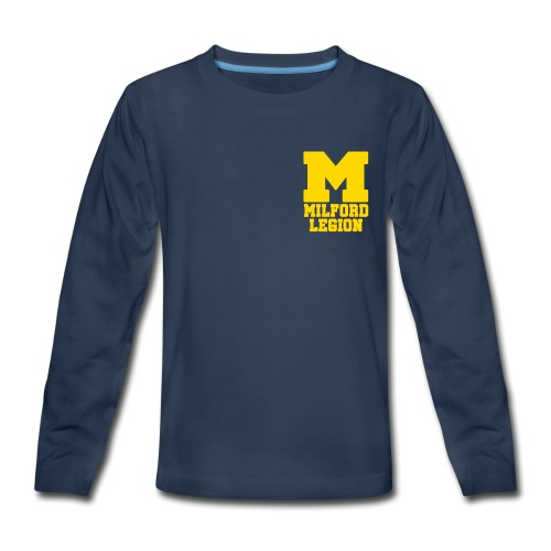 Milford-Legion Logo - Kids' Premium Long Sleeve T-Shirt