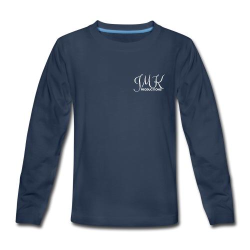 JMK White Text - Kids' Premium Long Sleeve T-Shirt