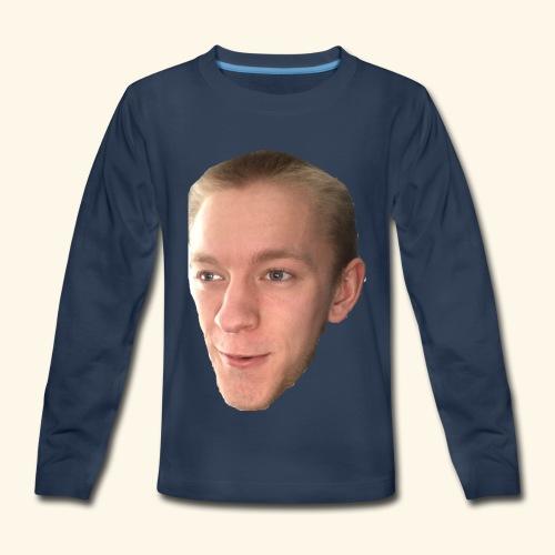 Chaz's Beautiful Face - Kids' Premium Long Sleeve T-Shirt