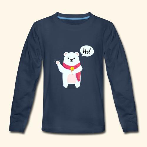 Adorable Bear - Kids' Premium Long Sleeve T-Shirt