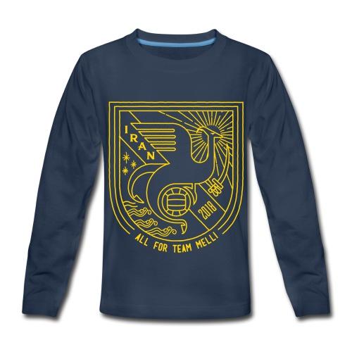simorgh badge - Kids' Premium Long Sleeve T-Shirt