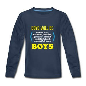 boy tee final - Kids' Premium Long Sleeve T-Shirt