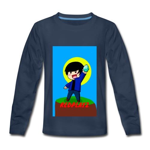 BLUE REDPLAYZ T-SHIRT ORIGINAL DESIGN - Kids' Premium Long Sleeve T-Shirt