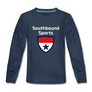 The Southbound Sports Shield Logo. - Kids' Premium Long Sleeve T-Shirt