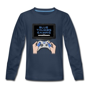 Blue Thumbs Gaming: Gamepad Logo - Kids' Premium Long Sleeve T-Shirt