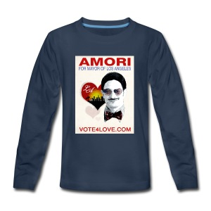 Amori for Mayor of Los Angeles eco friendly shirt - Kids' Premium Long Sleeve T-Shirt