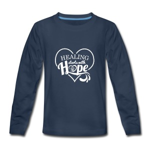Healing with Hope - Kids' Premium Long Sleeve T-Shirt