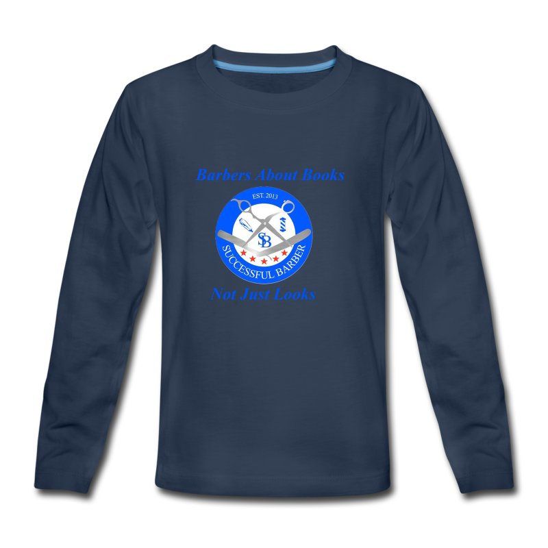 BarberShop Books - Kids' Premium Long Sleeve T-Shirt