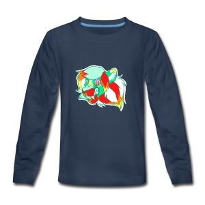 Psychedelic Lion - Kids' Premium Long Sleeve T-Shirt