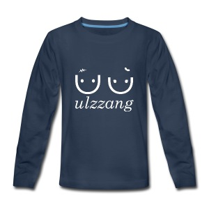 Ulzzang - Best Face - Kids' Premium Long Sleeve T-Shirt
