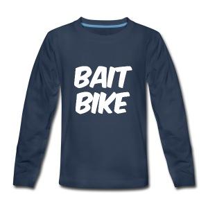 BAIT BIKE WHITE - Kids' Premium Long Sleeve T-Shirt
