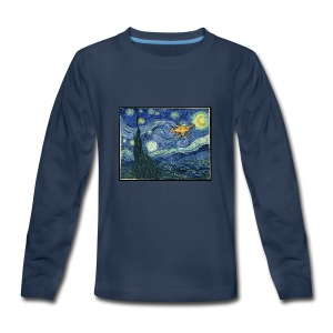 Starry Night Drone - Kids' Premium Long Sleeve T-Shirt
