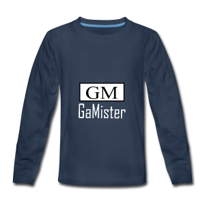 gamister_shirt_design_1_back - Kids' Premium Long Sleeve T-Shirt
