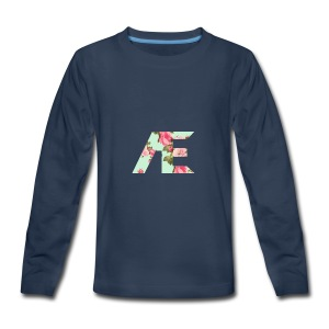 AE Floral design - Kids' Premium Long Sleeve T-Shirt