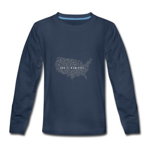 God is in America - Kids' Premium Long Sleeve T-Shirt
