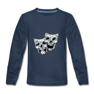 COMEDY TRAGEDY SKULLS - Kids' Premium Long Sleeve T-Shirt