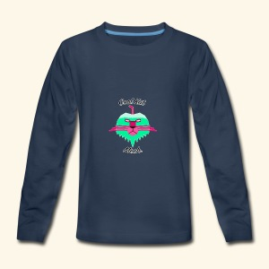 Cool Kat Mech. (Neon Glow) - Kids' Premium Long Sleeve T-Shirt