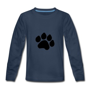 Black Paw Stuff - Kids' Premium Long Sleeve T-Shirt