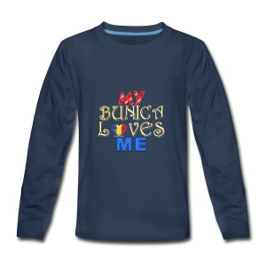 My Bunica Loves Me - Kids' Premium Long Sleeve T-Shirt