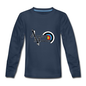 Archery Maniacs White Outline - Kids' Premium Long Sleeve T-Shirt