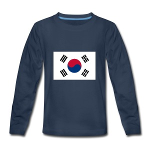 Flag of South Korea - Kids' Premium Long Sleeve T-Shirt