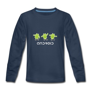android logo T shirt - Kids' Premium Long Sleeve T-Shirt