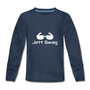 Jett Swag Sun Glasses White - Kids' Premium Long Sleeve T-Shirt