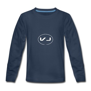 Vloggerjoe White circle lgo - Kids' Premium Long Sleeve T-Shirt
