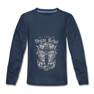 Vegan Rebel - Kids' Premium Long Sleeve T-Shirt