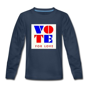 vote4love-sample - Kids' Premium Long Sleeve T-Shirt