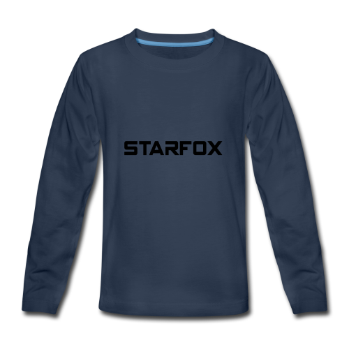 STARFOX Text - Kids' Premium Long Sleeve T-Shirt