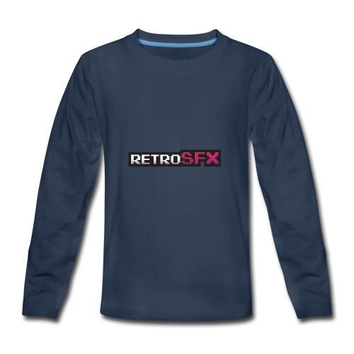 RetroSFX logo - Kids' Premium Long Sleeve T-Shirt