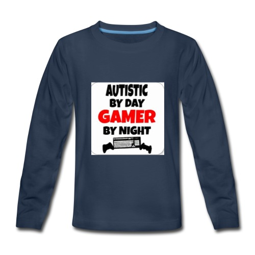 Autistic By Day Gamer By night - Kids' Premium Long Sleeve T-Shirt