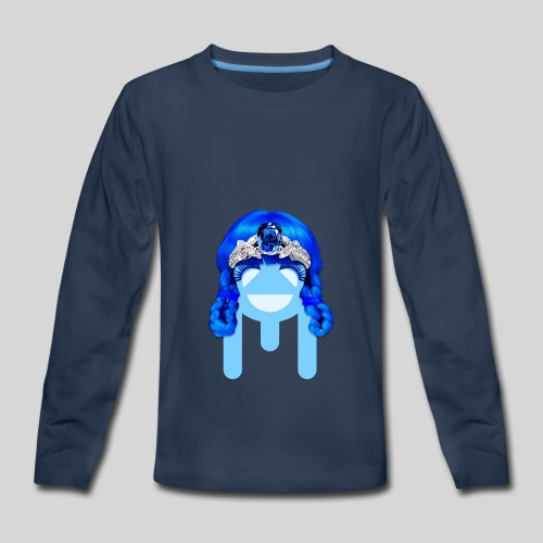ALIENS WITH WIGS - #TeamMu - Kids' Premium Long Sleeve T-Shirt