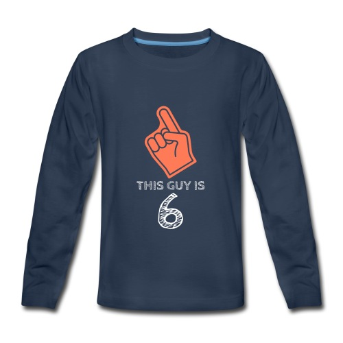 This Guy Is 1 Statement Novelty Funny kids Sayings - Kids' Premium Long Sleeve T-Shirt