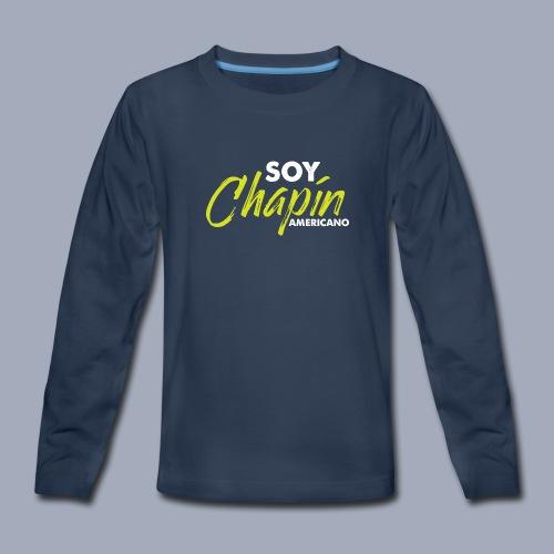 Soy Chapín Americano - green - Kids' Premium Long Sleeve T-Shirt