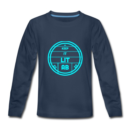 AB KEPP IT LIT 50 SUBS MERCH - Kids' Premium Long Sleeve T-Shirt