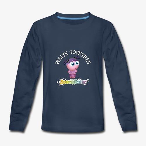 t shirt 13 white text - Kids' Premium Long Sleeve T-Shirt