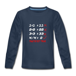 POOR MATH CALCULATION - Kids' Premium Long Sleeve T-Shirt