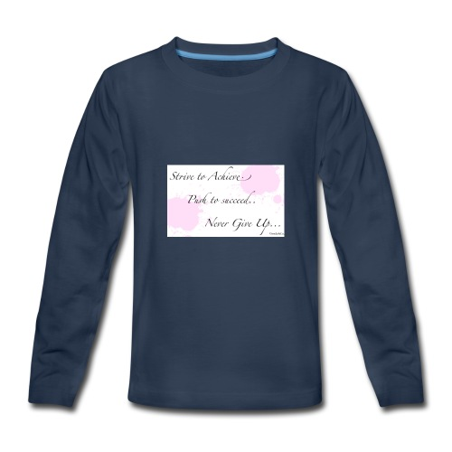 Never give up - Kids' Premium Long Sleeve T-Shirt