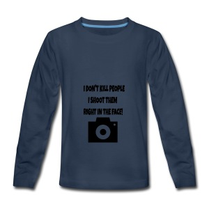 right in the face - Kids' Premium Long Sleeve T-Shirt