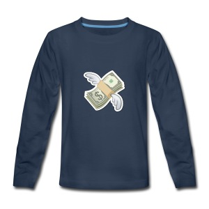 Money With Wings - Kids' Premium Long Sleeve T-Shirt
