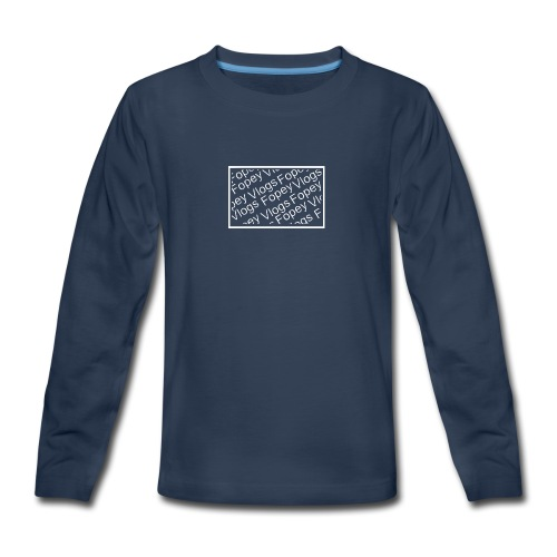 This is a Fopey Vlogs constant text logo - Kids' Premium Long Sleeve T-Shirt