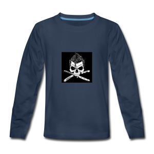 Greaser skull - Kids' Premium Long Sleeve T-Shirt